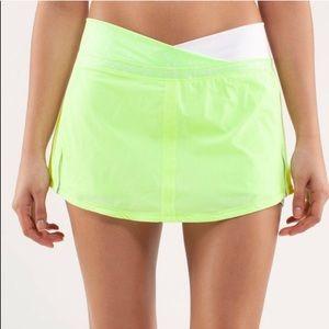 Neon Yellow Lululemon Athletica  skirt